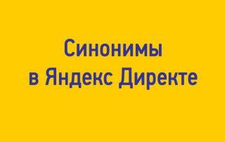 Синонимы Яндекс Директ: отключить нельзя, но можно простить, понять и заминусовать.