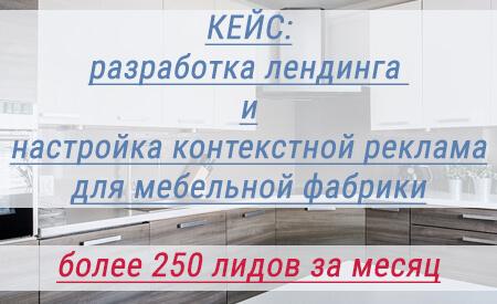 Кейс контекстная реклама Яндекс Директ – кухни на заказ в СПб